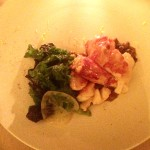 Lobster, charred meyer lemon, mustard greens